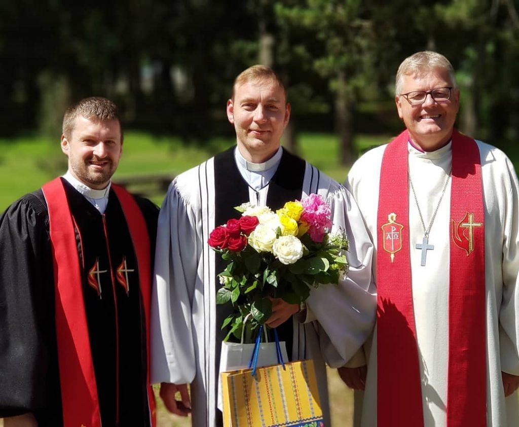 (Pictured: Rev. Robert Tserenkov, Rev. Ardi Leerima, and Bishop Christian Alsted)